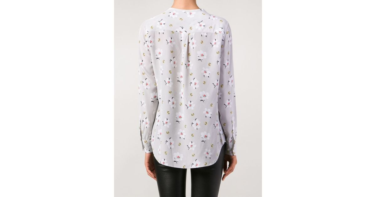 96b8cf28230ab8 Lyst - Equipment Casual Floral Shirt in Gray