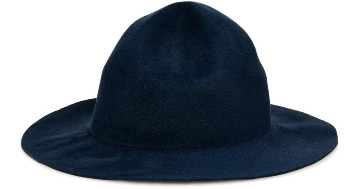 b6cf4105fa2 Burberry Prorsum The Campaign Rabbit-Felt Hat in Blue for Men - Lyst