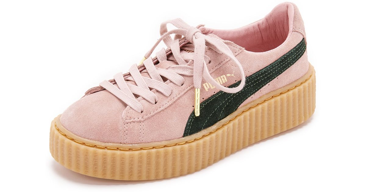 de368345f17 Lyst - PUMA X Rihanna Creeper Sneakers - Coral Cloud Pink ultramarine G in  Pink