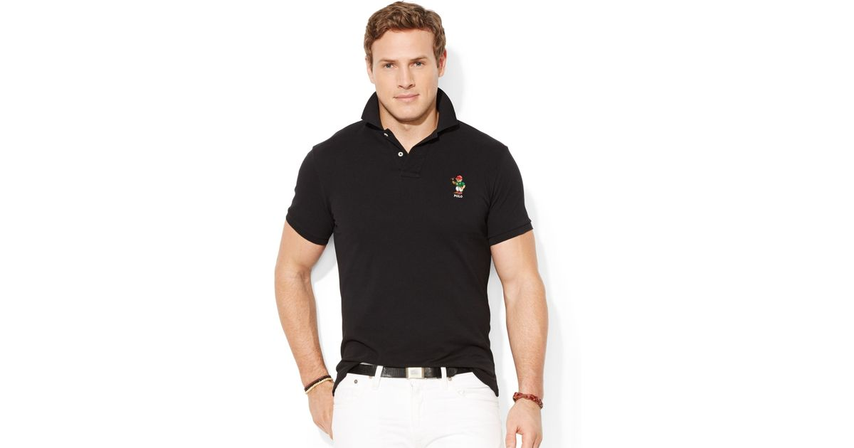 1531142bab08 Lyst - Polo Ralph Lauren Big And Tall Classic-Fit Polo Bear Mesh Shirt in  Black for Men