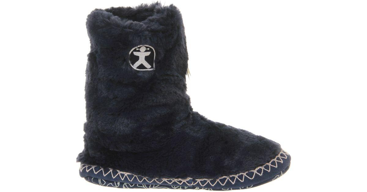 bedroom athletics marilyn iii slipper boots in black lyst