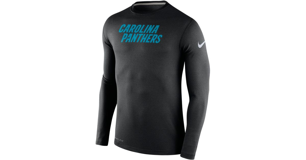 bd8a90329 Nike Men's Long-sleeve Carolina Panthers Dri-fit Touch T-shirt in Black for  Men - Lyst