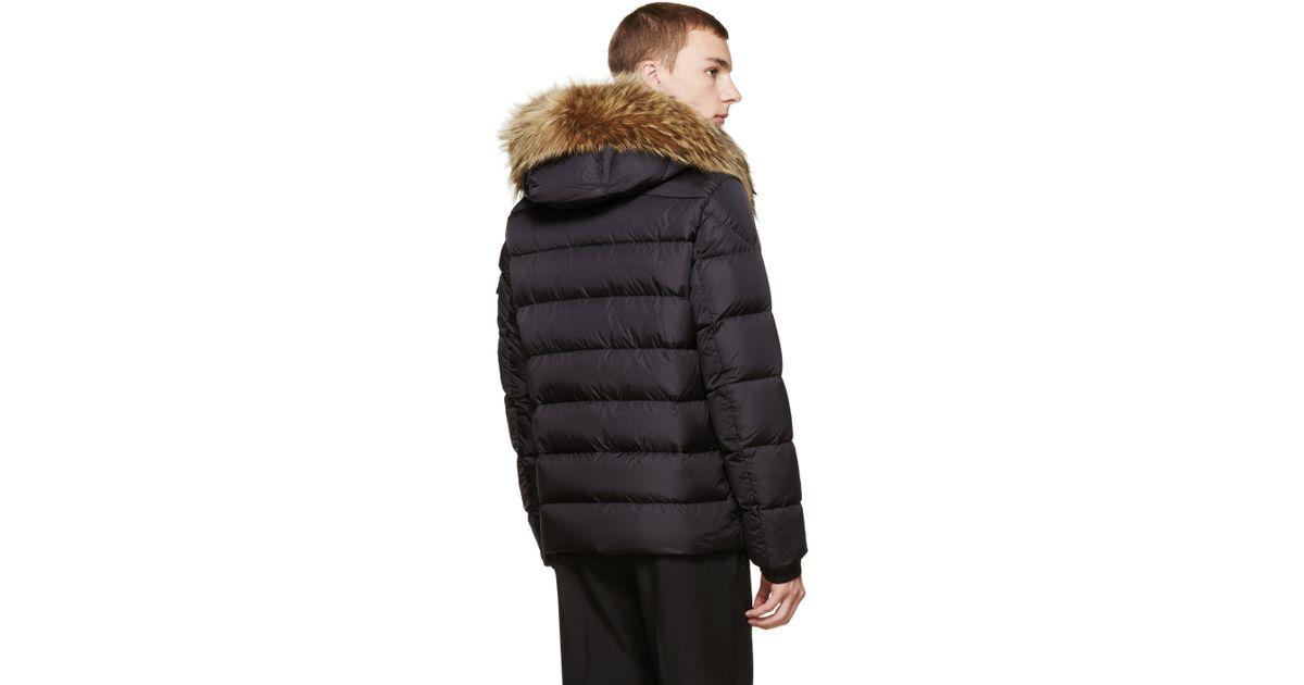 c3765a0c7 Lyst - Moncler Black Down Byron Jacket in Black for Men