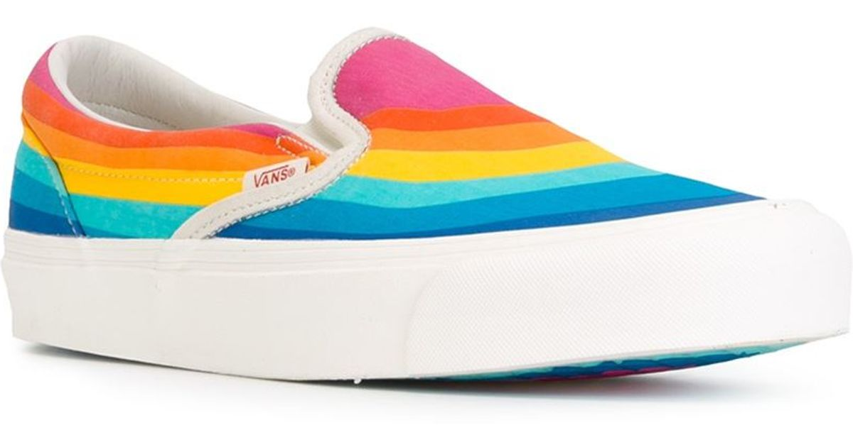 c14a598d1694 Lyst - Vans Rainbow Slip-on Sneakers for Men