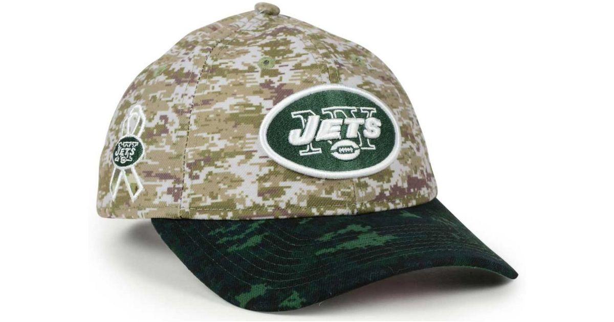 online store eb201 dd1f8 KTZ Women s New York Jets Salute To Service 9twenty Cap in Green for Men -  Lyst