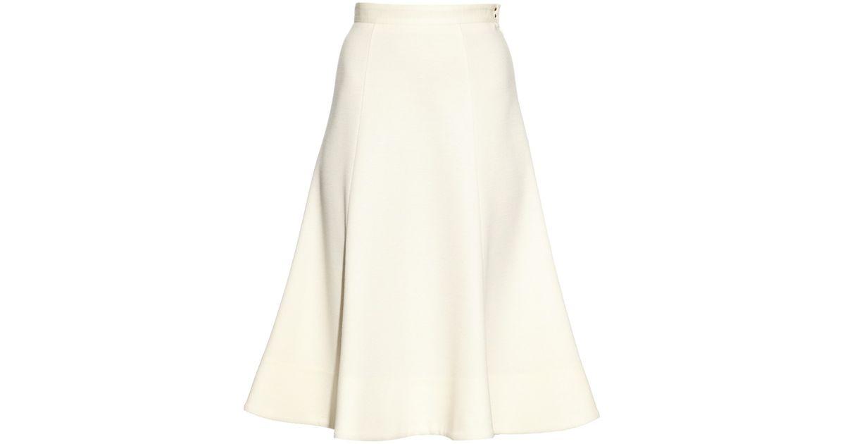 f6f2b2a885 MUVEIL Wool-knit Full Midi Skirt in White - Lyst