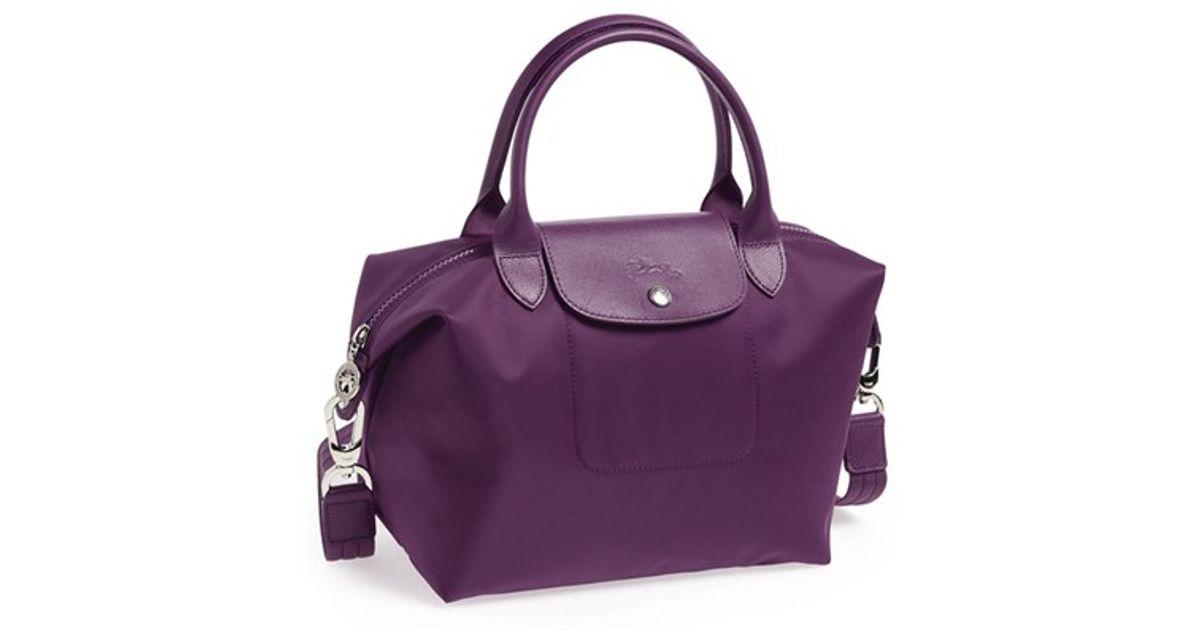 Longchamp Le Pliage Neo Small Tote Purple In Purple