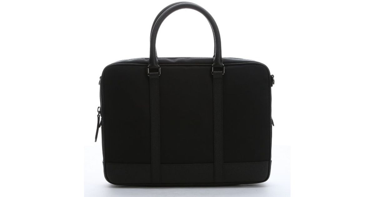 d05fbf058a31 Burberry Black Nylon And Leather Small  newburg  Briefcase in Black for Men  - Lyst