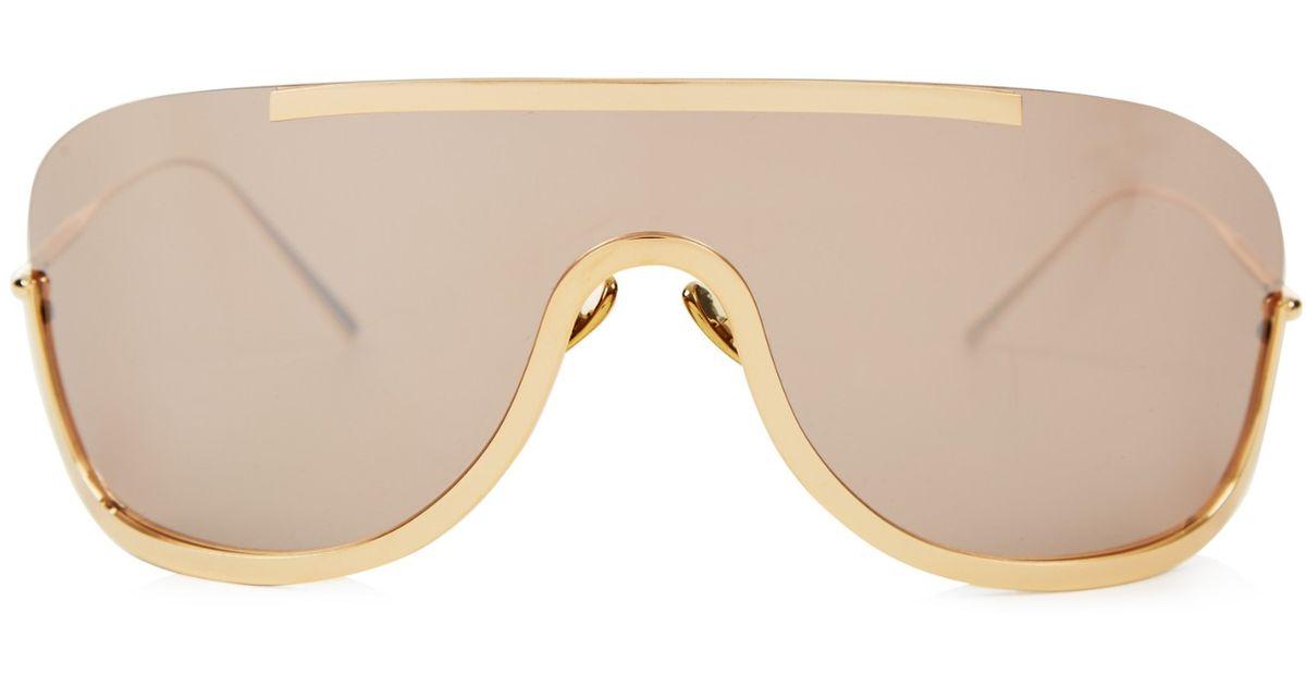 580d1b6e55b Lyst - Acne Studios Mask Junior Sunglasses in Brown