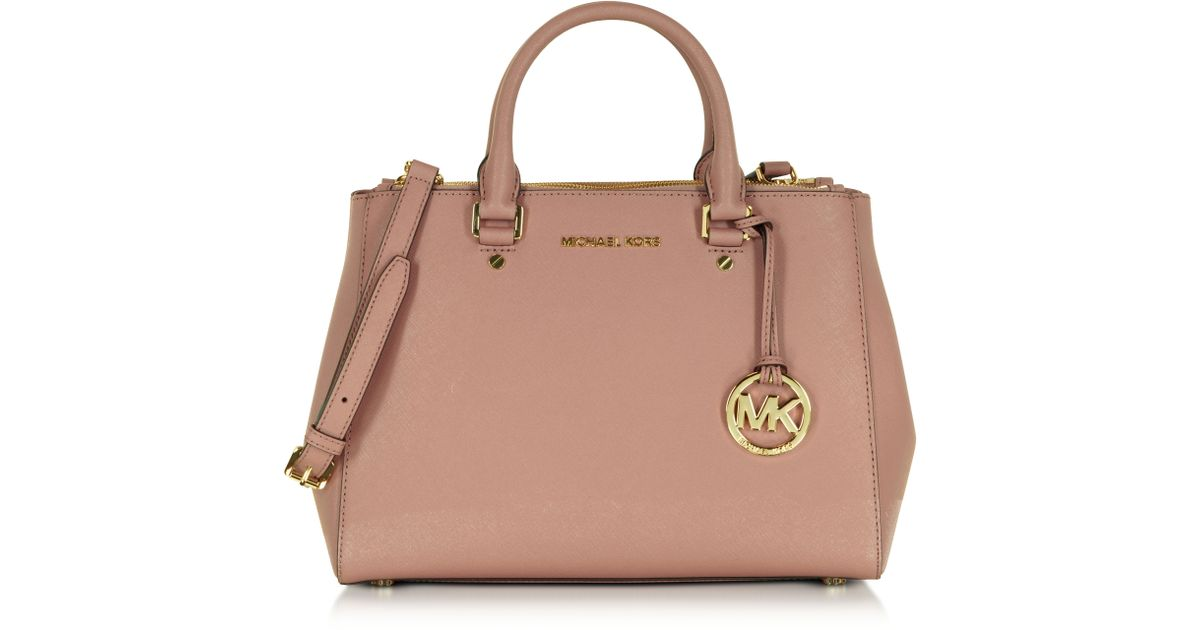a8dcc448117c ... coupon for lyst michael kors sutton medium saffiano leather satchel bag  in pink 12b32 0b397 ...