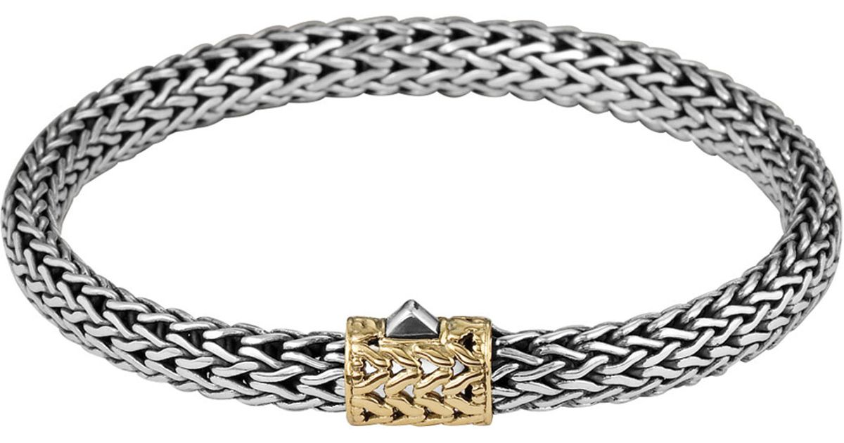 John Hardy Gold-Accent Small Cable-Chain Bracelet 9PCtieq