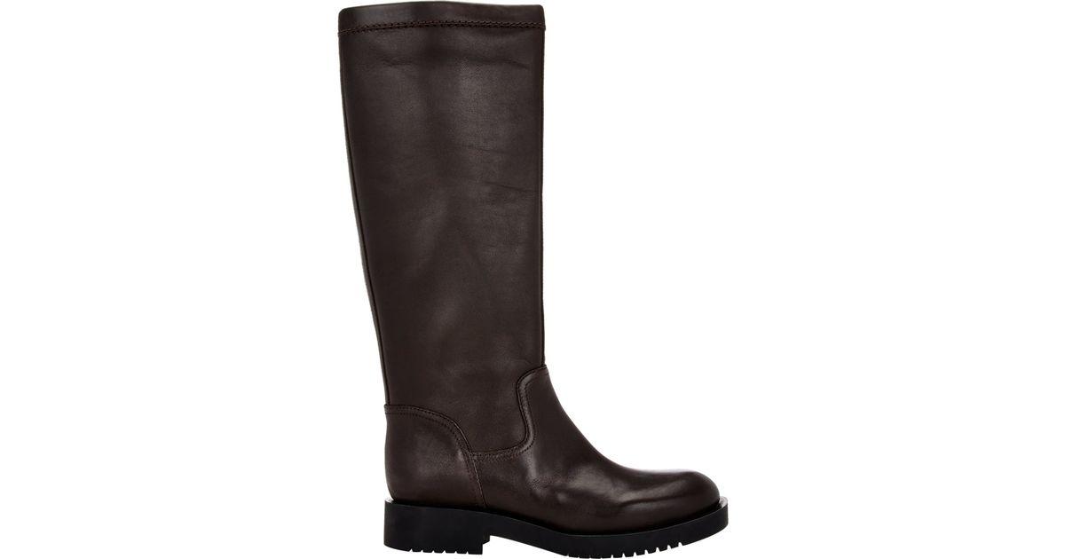 Jil Sander Leather Riding Boots