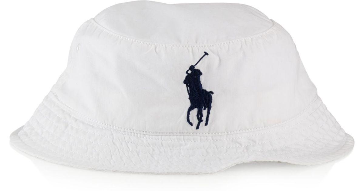 3c384a3fc2d Lyst Polo Ralph Lauren Beachside Bucket Hat In White