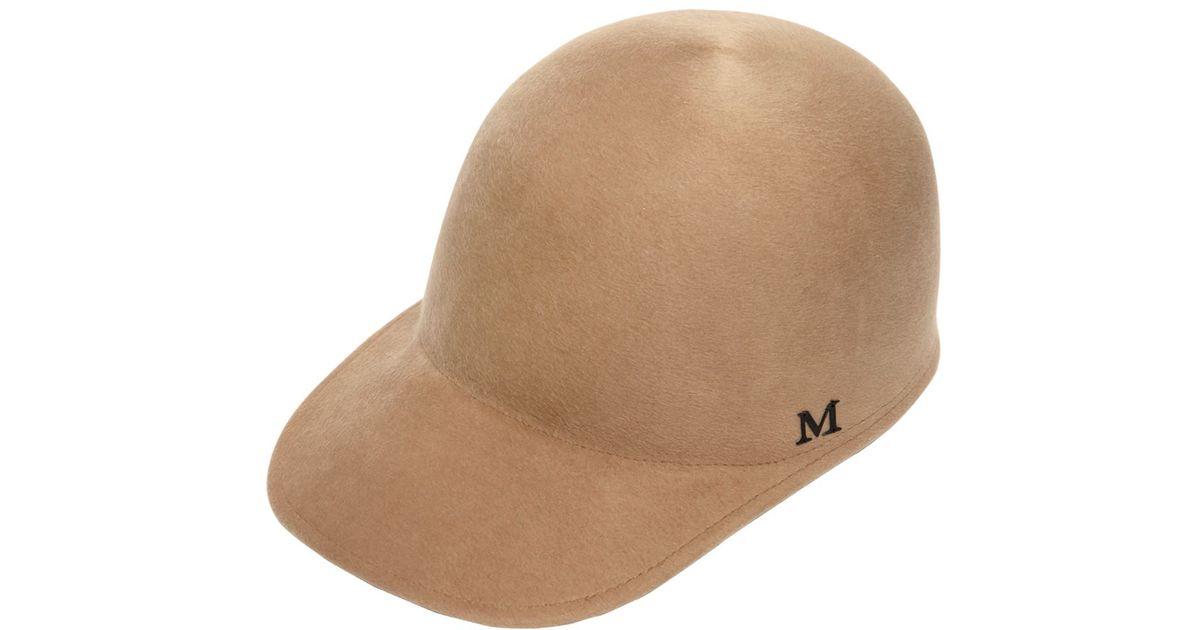 Lyst - Maison Michel Beaver Fur Felt Baseball Hat in Natural for Men 4635b548916