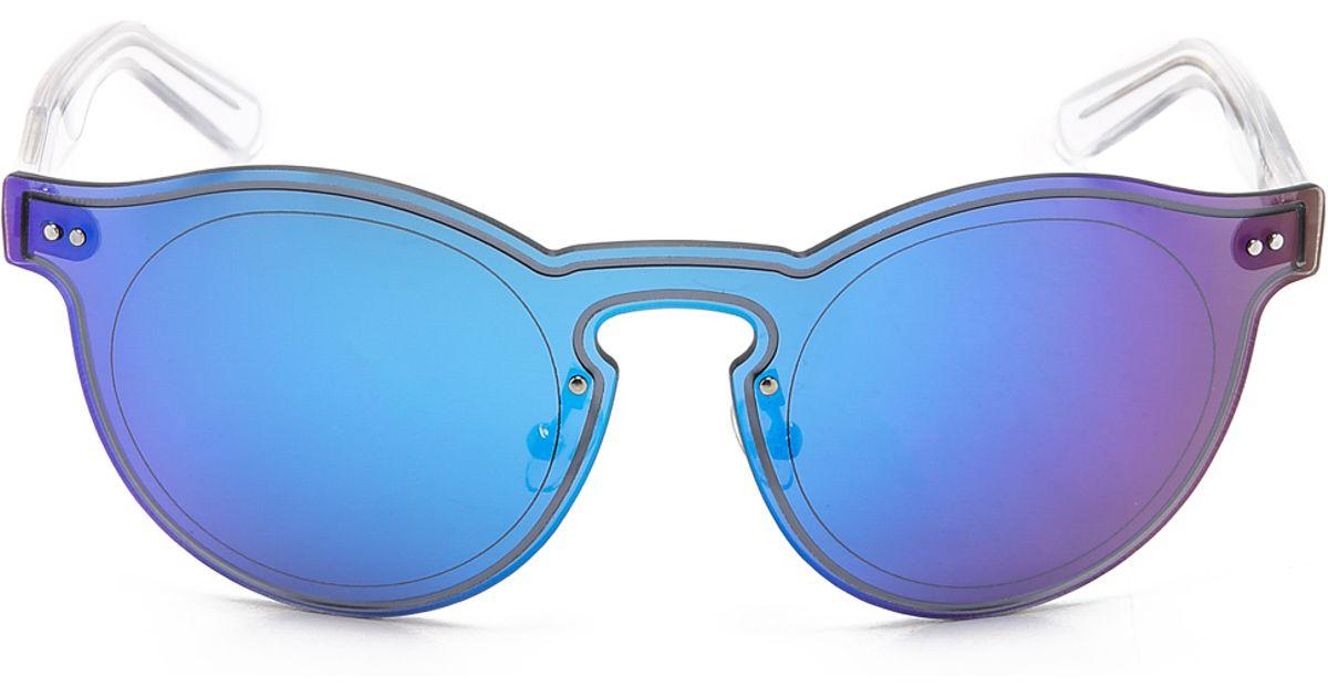 09ae39da2c Lyst - KENZO Thin Sunglasses in Blue
