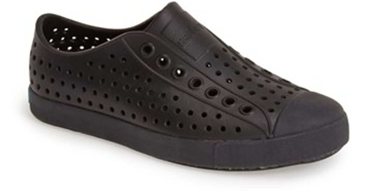 62d0d8550a7 Lyst - Native Shoes  Jefferson  Water Friendly Perforated Sneaker in Black