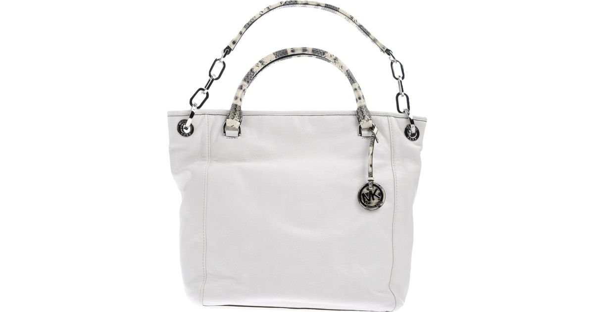Lyst Michael Kors Handbag In White