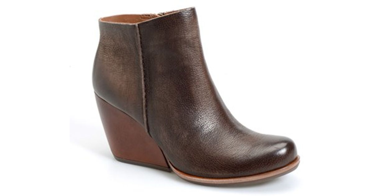 2f1a1b48249d Lyst - Kork-Ease  Natalya  Burnished Leather Demi Wedge Boot in Brown
