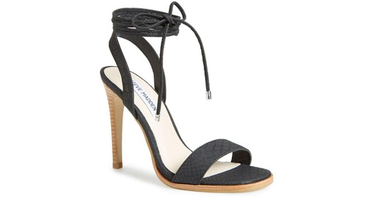 bceb7d7cbf0 Lyst - Steve Madden  Faithful  Lace-Up Sandal in Black