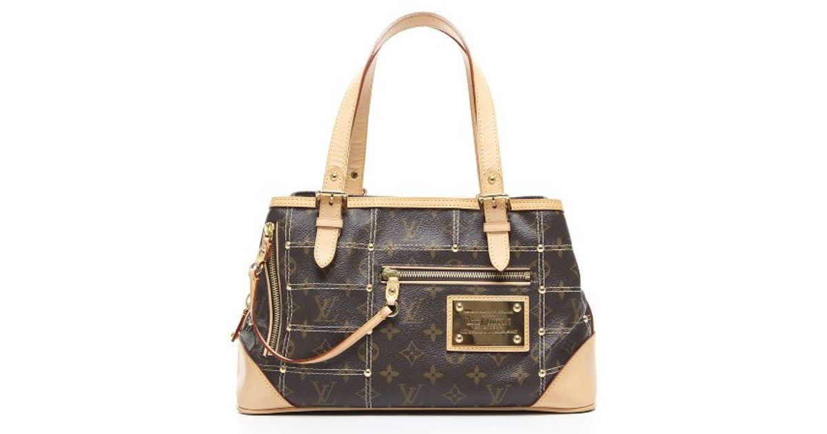 7c4bd359b29d Lyst - Louis Vuitton Preowned Limited Edition Monogram Canvas Riveting Bag  in Brown