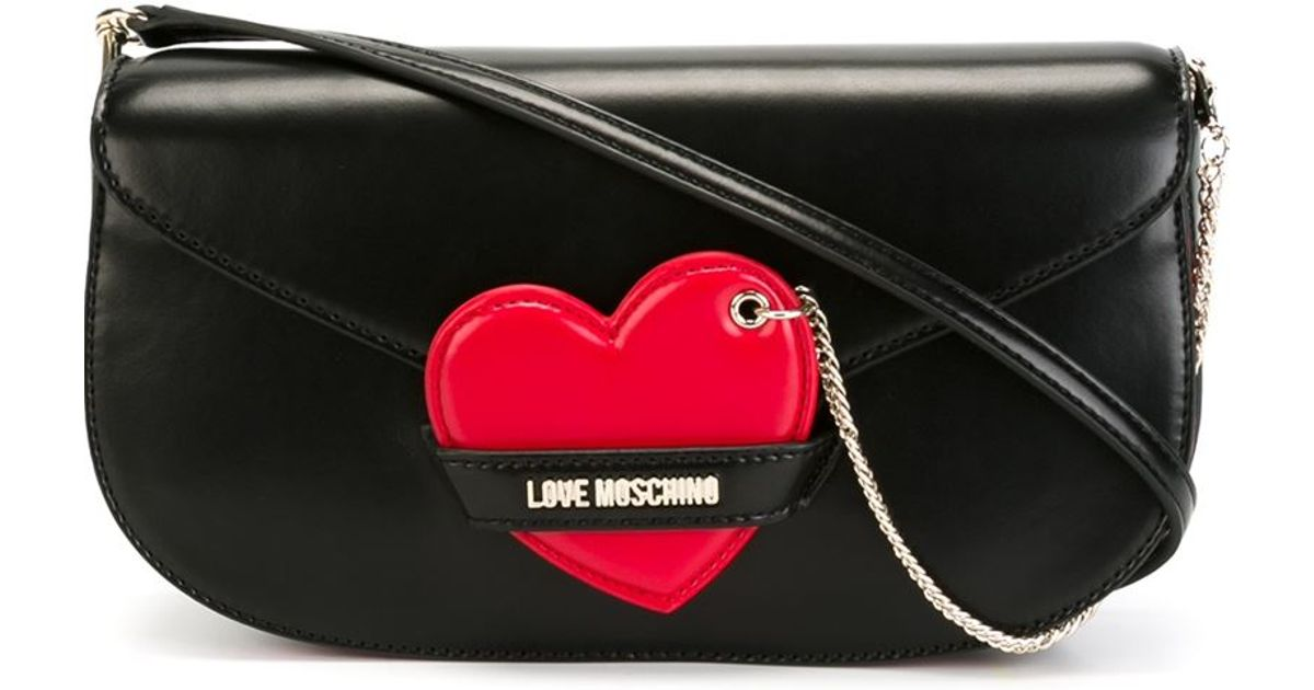 732d256f72d9 Lyst - Love Moschino Heart Detail Crossbody Bag in Black