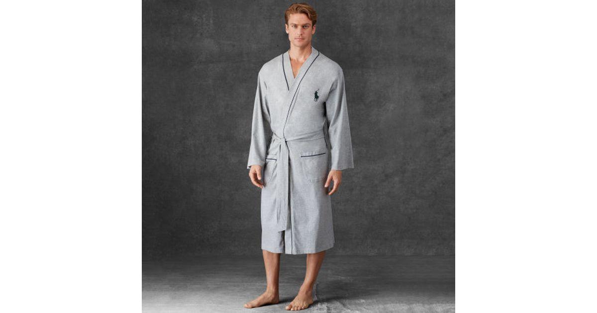 Lyst - Polo Ralph Lauren Kimono Robe in Gray for Men f4324a72574