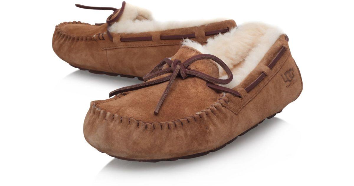 Ugg Dakota Flat Slip On Loafers In Brown Lyst