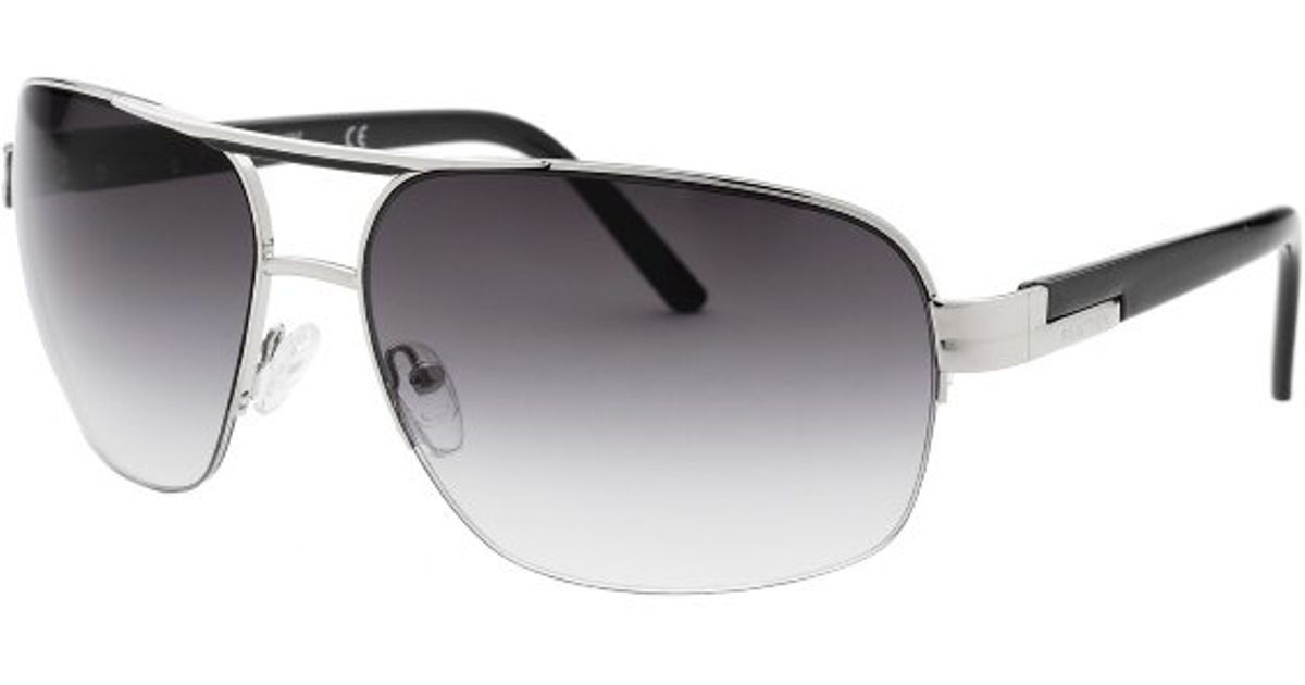 Kenneth Cole Sunglasses Mens  kenneth cole reaction men s aviator silver tone sunglasses in