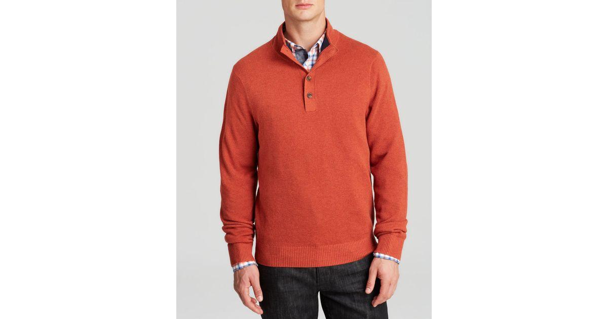 Brooks brothers Cotton Cashmere Mockneck Sweater in Orange for Men ...