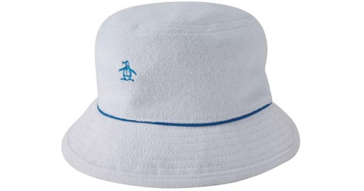 Lyst - Original Penguin Terry Cloth Bucket Hat in White for Men eb82c3f9b5d