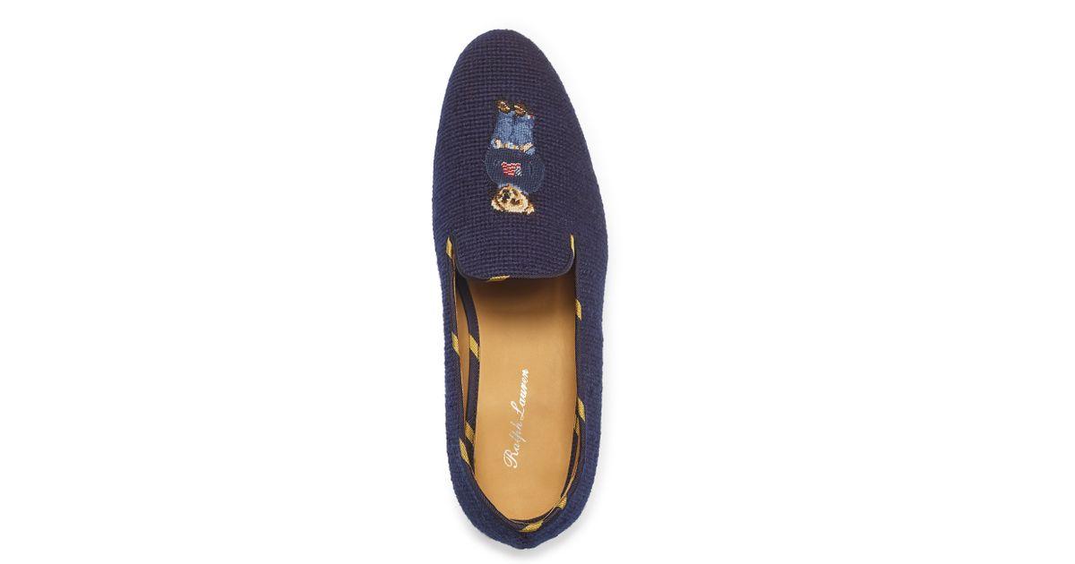 acb02c24e6a43 Lyst - Ralph Lauren Collis Polo Bear Slipper in Blue for Men
