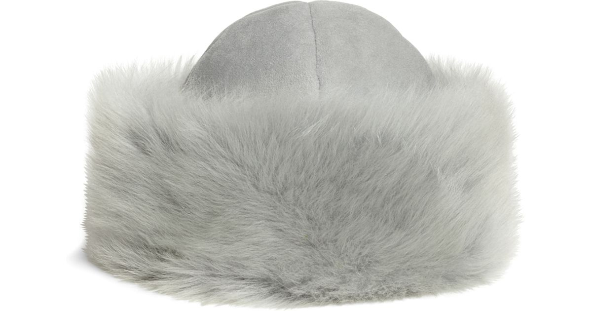 8c6f25b554272 Lyst - Brooks Brothers Shearling Hat in Gray