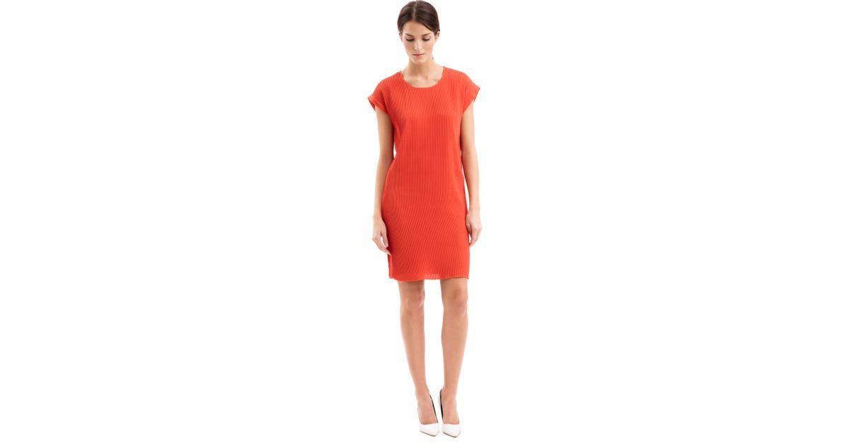 iris von arnim seidenkleid belinda in orange koralle lyst. Black Bedroom Furniture Sets. Home Design Ideas