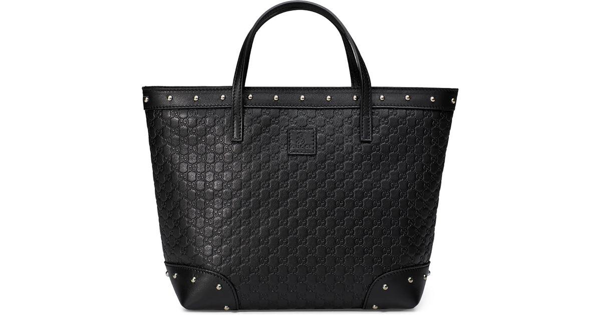 2afd360de64b Lyst - Gucci Ssima-leather Tote Bag in Black