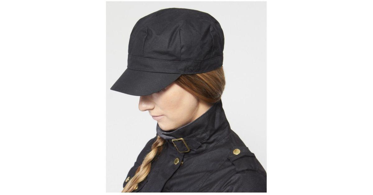 Lyst - Barbour Wax Baker Boy Cap in Black fd397d39a93
