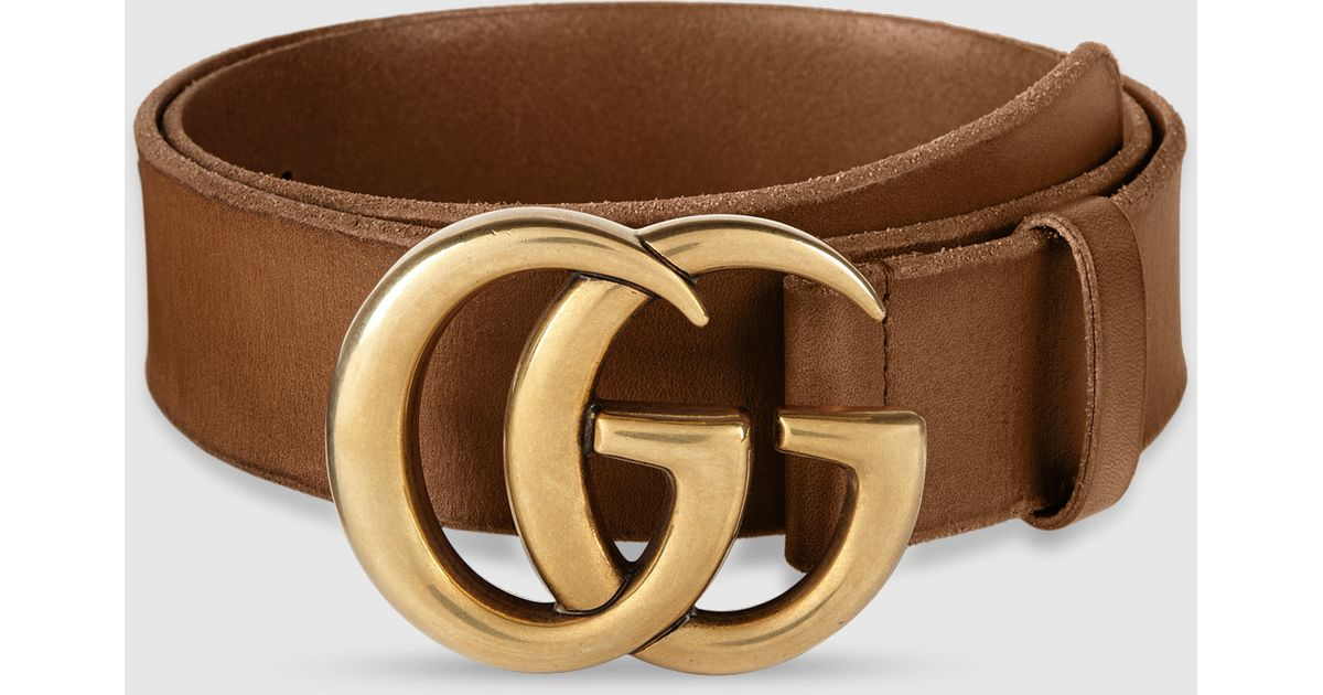 91a5019aa9e Gucci Belt Buckle Size. Gucci Brown Leather with Double G ...