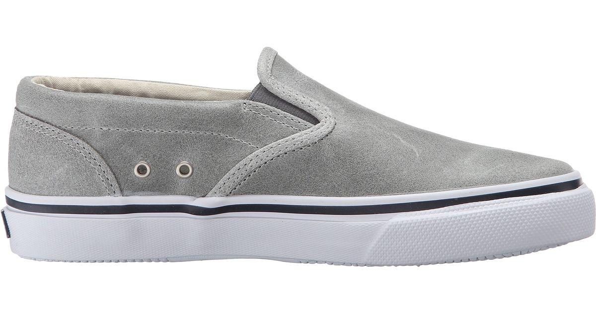 362507ab00 Lyst - Sperry Top-Sider Striper Slip-on White Cap in Gray for Men