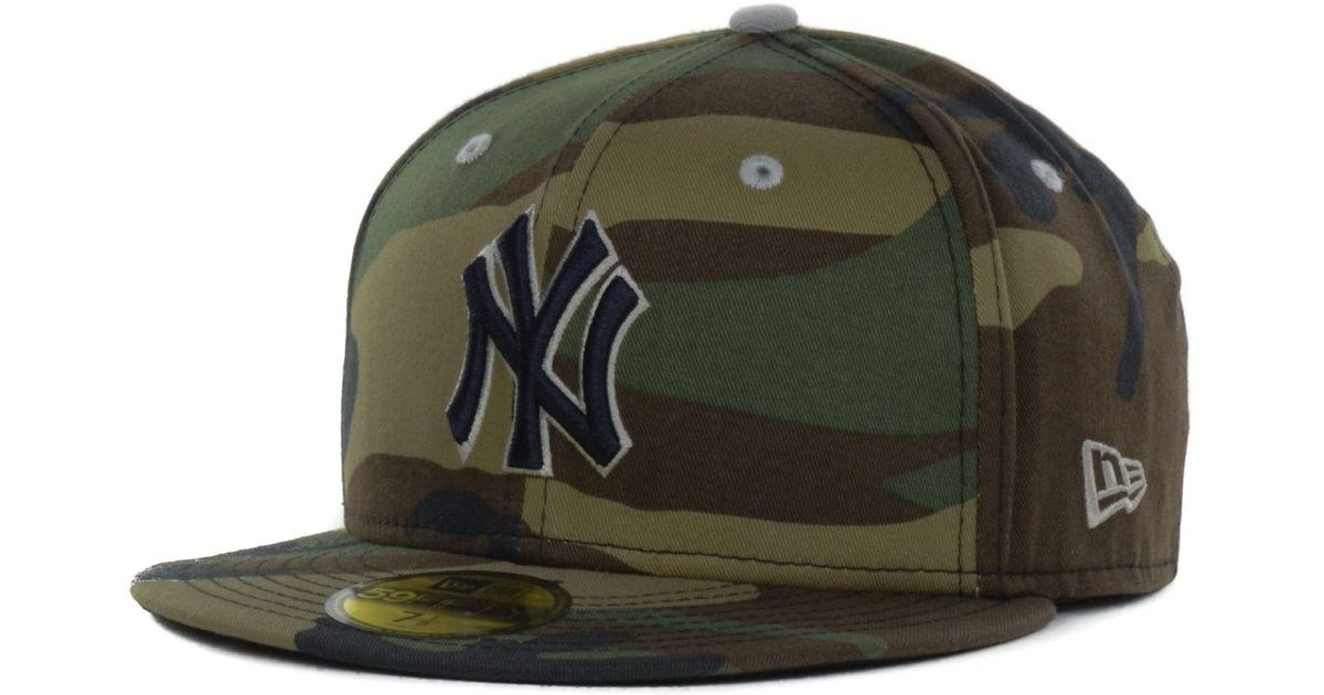 097194ee 34.99 12a73 8d1a1; official store lyst ktz new york yankees mlb camo pop 59fifty  cap in green for men