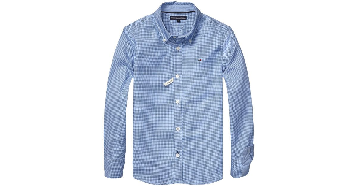 4a5a7b0f08e8 Tommy Hilfiger Boys' Beacon Long Sleeve Check Shirt in Blue for Men - Lyst