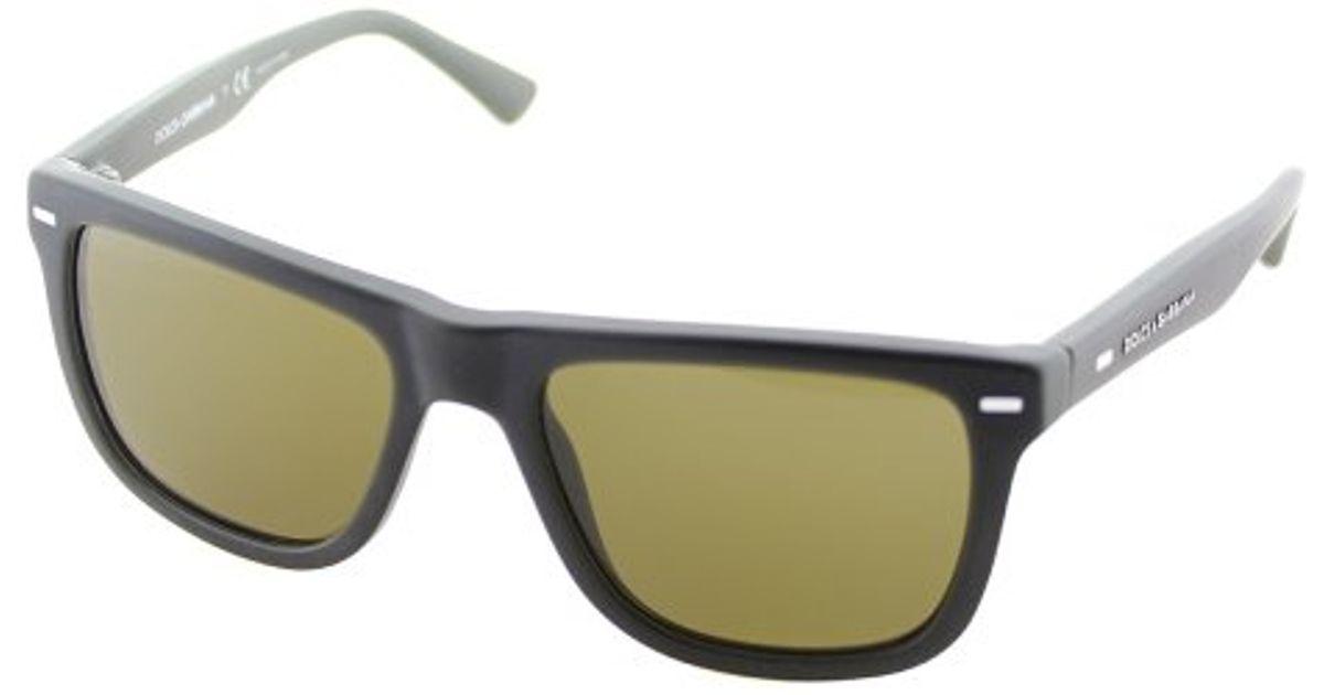 Lyst - Dolce   Gabbana Dolce And Gabbana Dg 4238 290773 Green Square Plastic  Sunglasses in Green 140f965b7b7f1