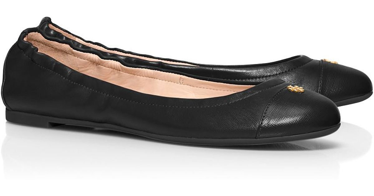 8df2c0ad47be Lyst - Tory Burch York Ballet Flat in Black