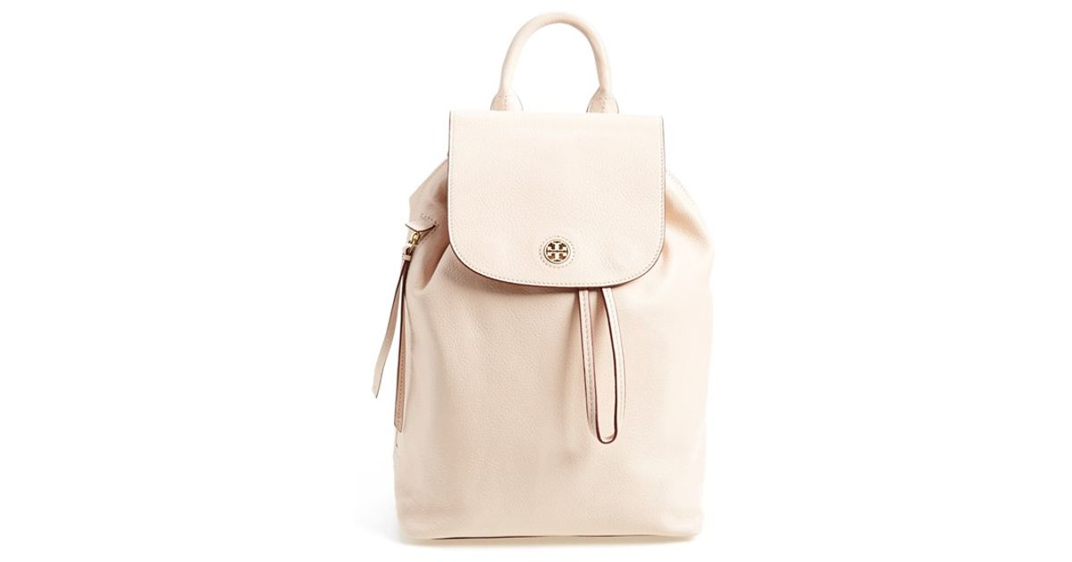 7ec6c9628f59 Lyst - Tory Burch  brody  Leather Drawstring Backpack in Pink