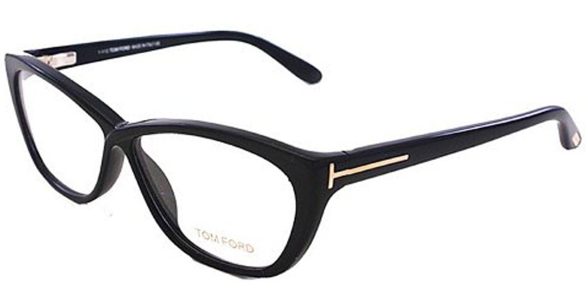 71322c9d84 Lyst - Tom Ford Tf5227 Ft5227 001 Plastic Wayfarer Eyeglasses in Black