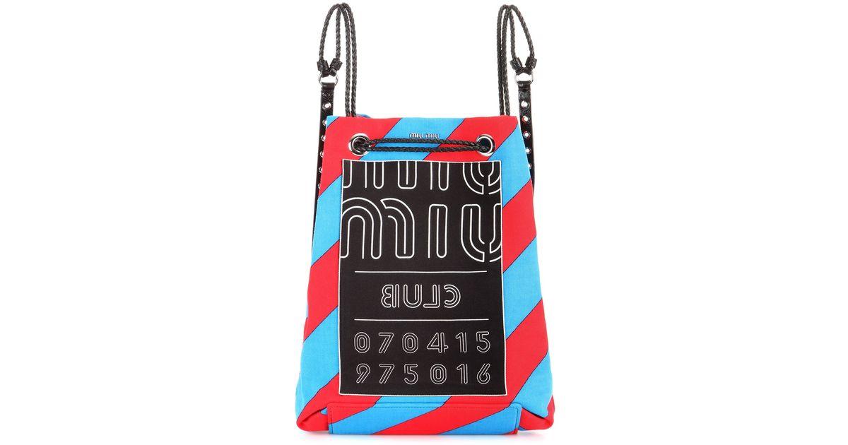 Lyst - Miu Miu Canvas Backpack f5e86a7c3fbed