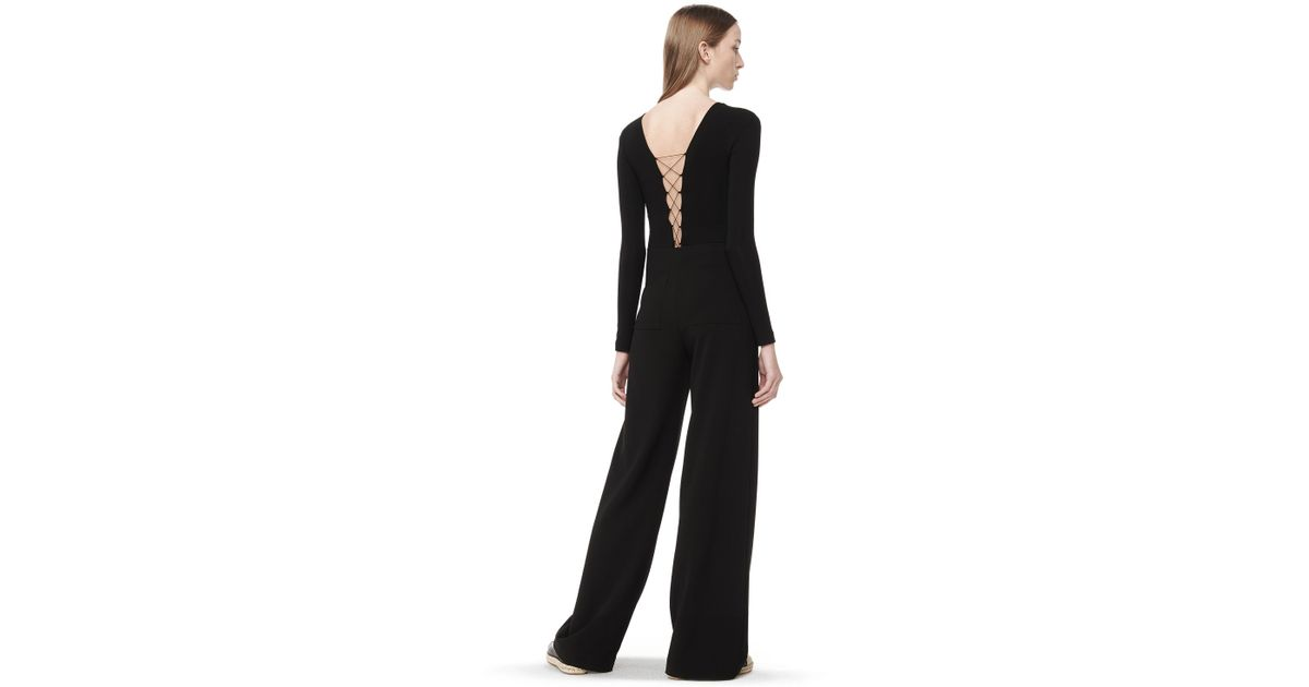 T By Alexander Wang Modal Spandex Long Sleeve Bodysuit In