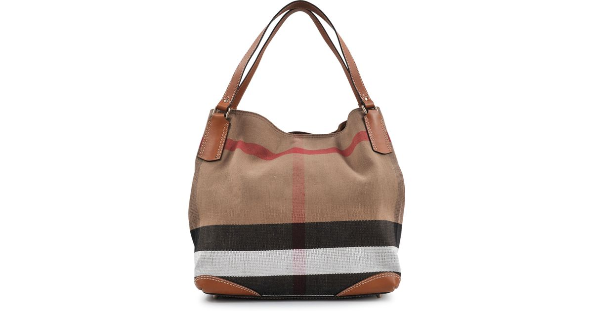 fbb8c962c18 Lyst - Burberry Sm Maidstone Brit Canvas Bag in Brown