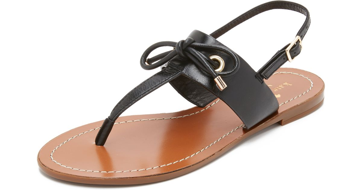 333b86d66 Lyst - Kate Spade Carolina Thong Sandals in Black