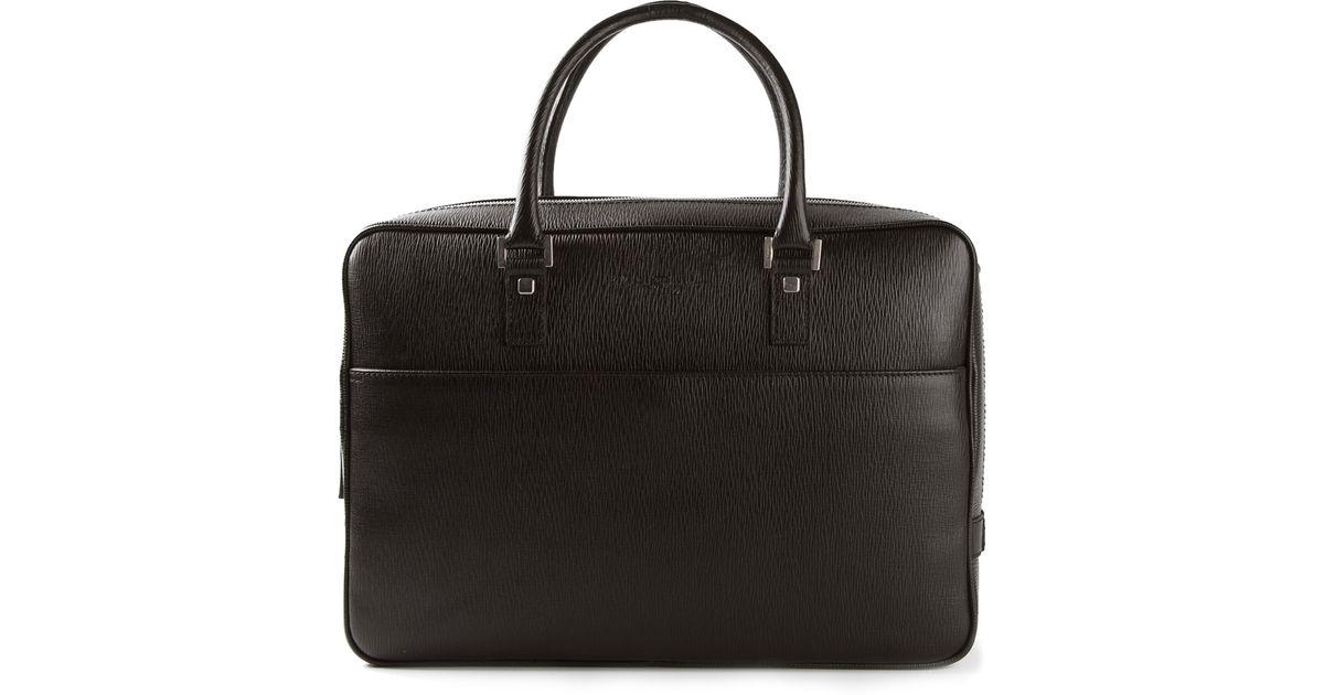 Lyst - Ferragamo Laptop Bag in Black for Men 3e0b3a440e7a2