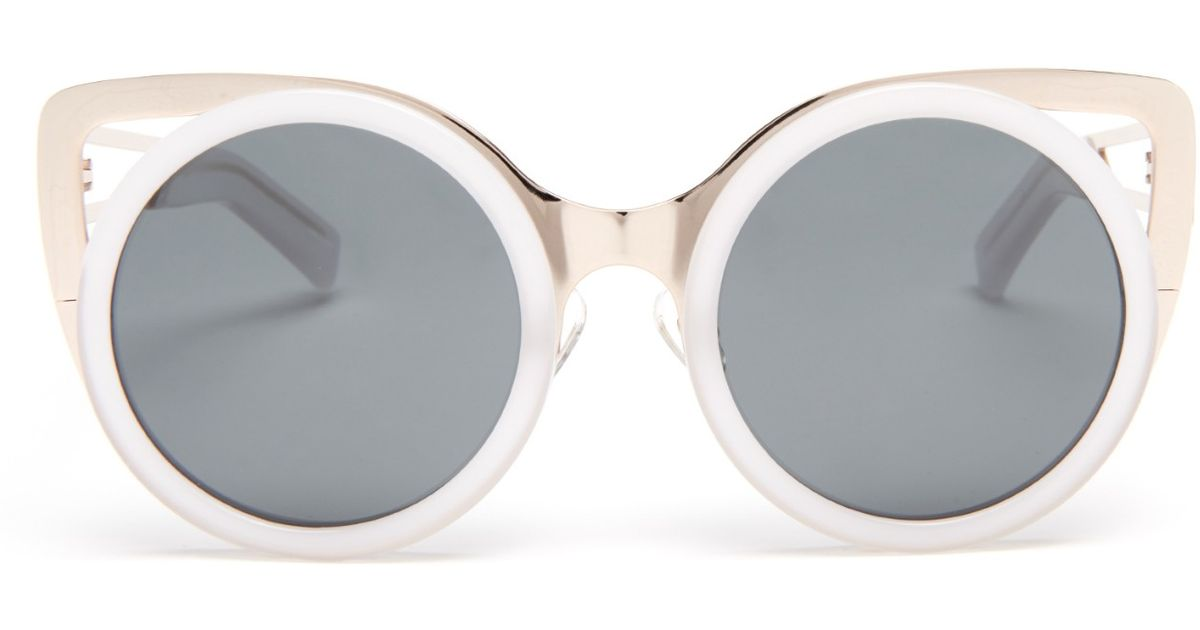 6790203db97 Erdem X Linda Farrow Cat-eye Sunglasses in Metallic - Lyst