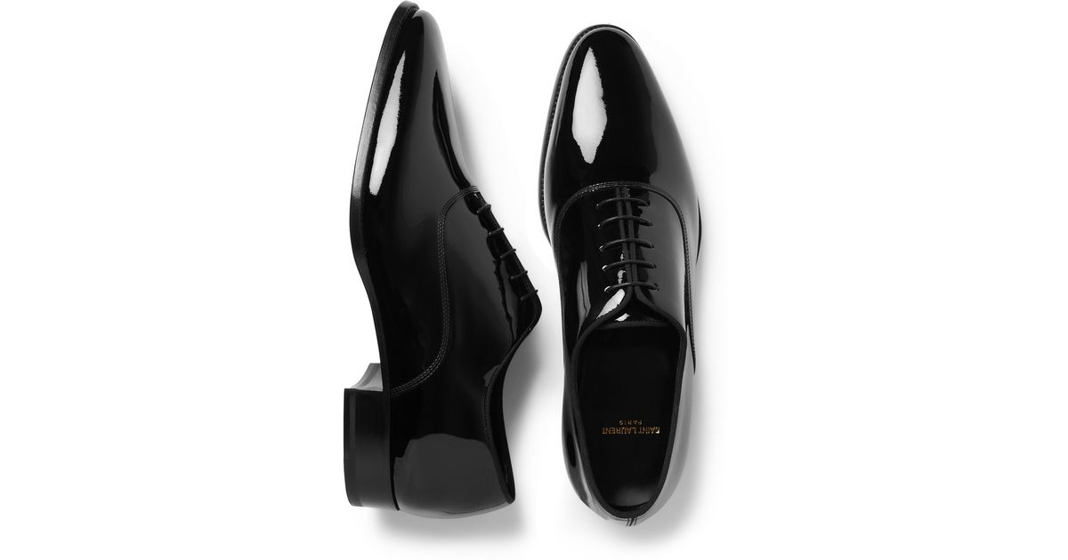 702aaf9bdabb Saint Laurent Patent Leather LaceUp Oxfords discount really IIMcfb ...